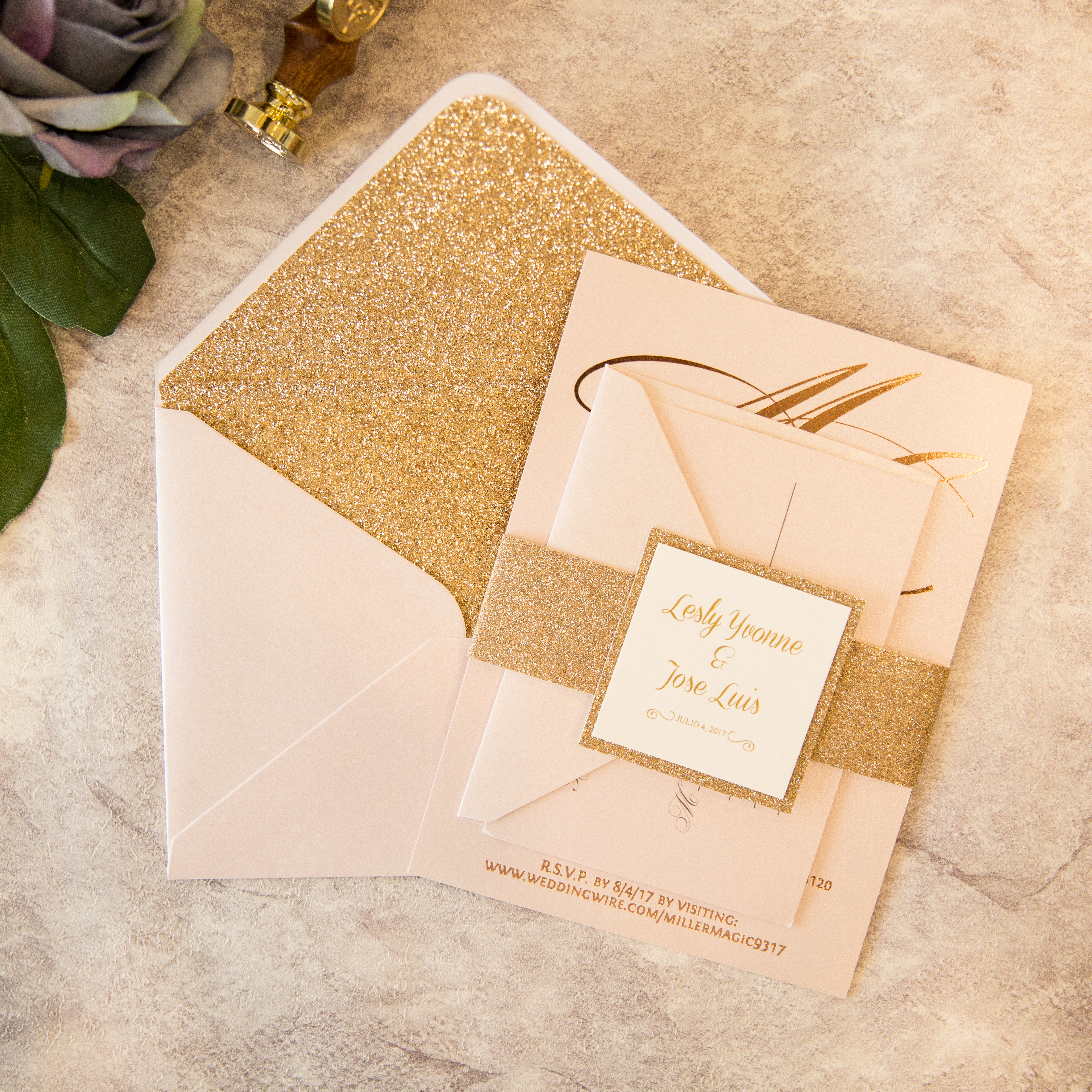 brillante invitacion para boda y xv por set dj0009 dj0009 1 20