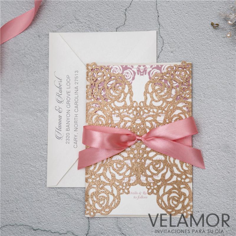 Flor Corte Laser Tarjeta Wpl0140 En Papel Brillante