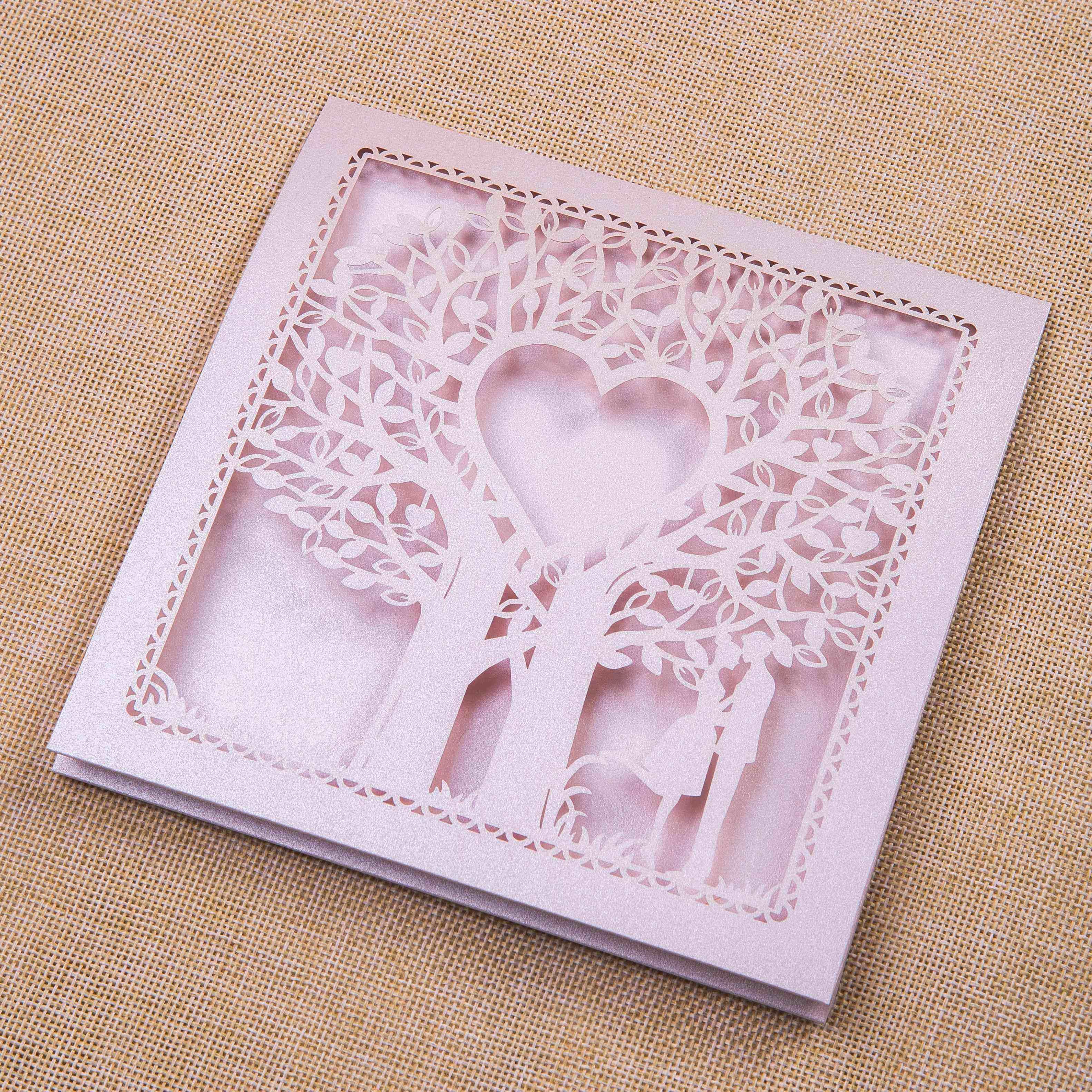Diseño de Árbo corazón Tarjetas de la Boda WZL0014 [WZL0014] - $1.00 ...